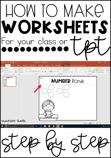 How To Make Worksheets For Your Classroom Or Teacherpayteachers